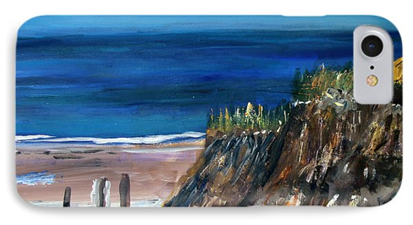 IPhone Case featuring the painting Welcome To The Beach by Michael Helfen