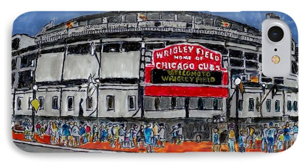 Welcome To Wrigley Field IPhone Case by Phil Strang