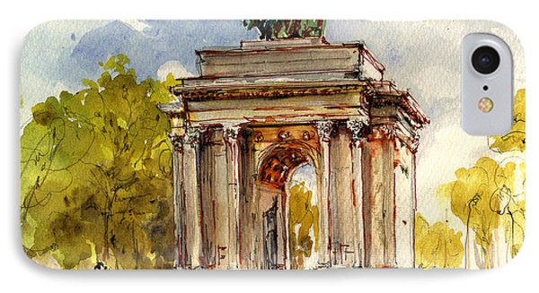 Wellington Arch IPhone Case by Juan  Bosco