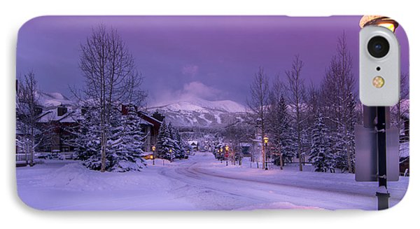 Wellington Road Winter Morning IPhone Case by Michael J Bauer