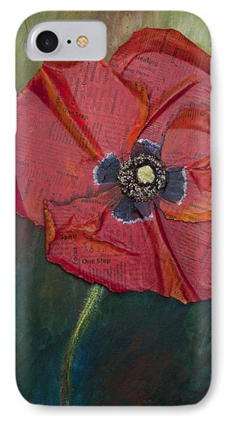 IPhone Case featuring the painting Wellness Poppy by Lisa Fiedler Jaworski