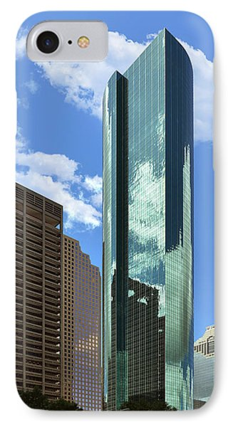 Wells Fargo Plaza Houston Tx IPhone Case by Christine Till