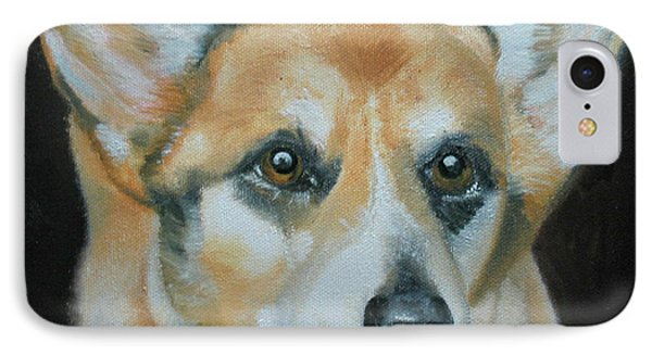 IPhone Case featuring the painting Welsh Corgi by Thomas J Herring