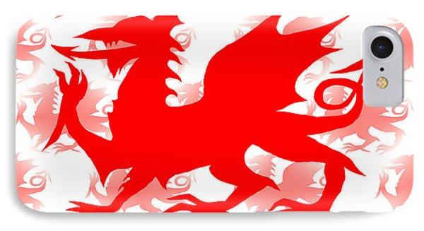 Welsh Dragon IPhone Case by Barbara Moignard