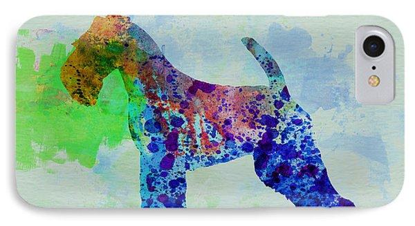 Welsh Terrier Watercolor IPhone Case