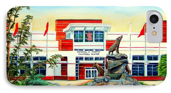 IPhone Case featuring the painting Wendell H. Murphy Football Center by Shelia Kempf