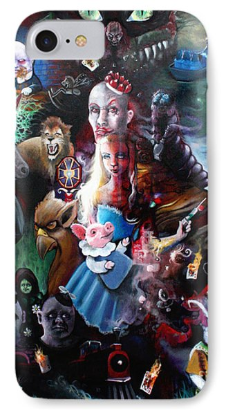 We're All Mad Here IPhone Case by Michael Parsons