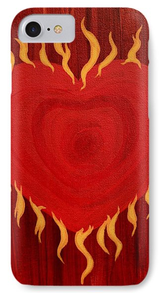 Were Not Our Hearts Burning Within Us Phone Case by Michele Myers