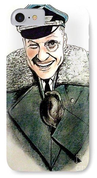 Werner Klemperer As Col Klink On Hogans Heroes   Phone Case by Jim Fitzpatrick