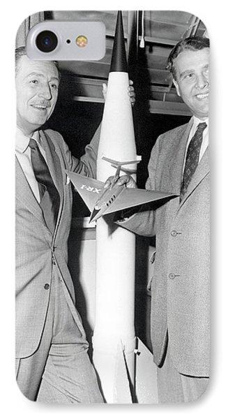 Wernher Von Braun And Walt Disney IPhone Case