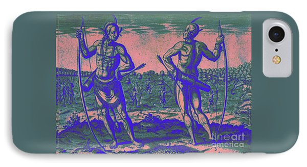 Weroans Of Virginia 1590 IPhone Case by Peter Gumaer Ogden