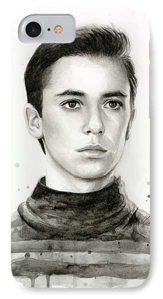 Wesley Crusher Star Trek Fan Art IPhone Case by Olga Shvartsur
