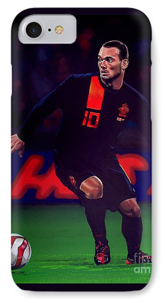 Wesley Sneijder  IPhone Case by Paul Meijering