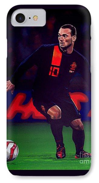 Wesley Sneijder  Phone Case by Paul Meijering