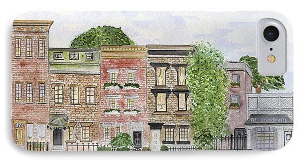 West 11th St In Greenwich Village IPhone Case by AFineLyne