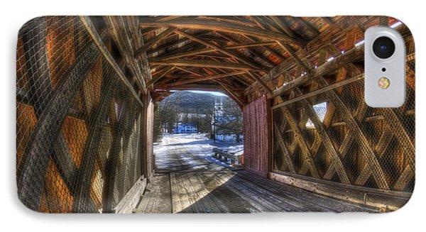 West Arlington Covered Bridge - Bennington Vermont IPhone Case by Joann Vitali