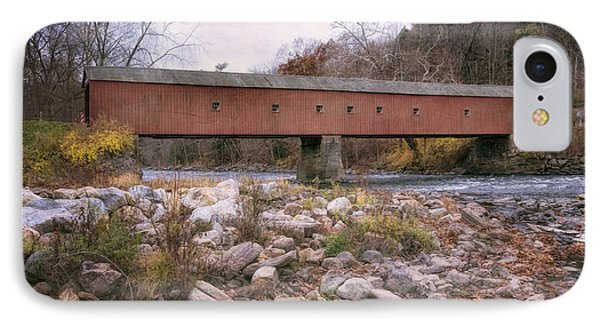 West Cornwall Covered Bridge IPhone Case