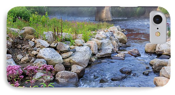 West Cornwall Covered Bridge Square IPhone Case by Bill Wakeley