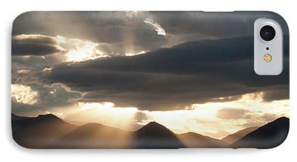 IPhone Case featuring the photograph West Elk Sunbeams by Eric Rundle