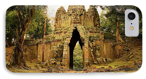 West Gate To Angkor Thom Phone Case by Artur Bogacki