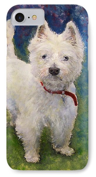 IPhone Case featuring the painting West Highland Terrier Holly by Richard James Digance