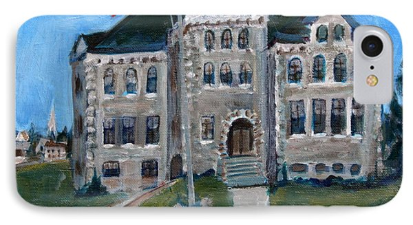 West Hill School In Canajoharie New York IPhone Case by Betty Pieper