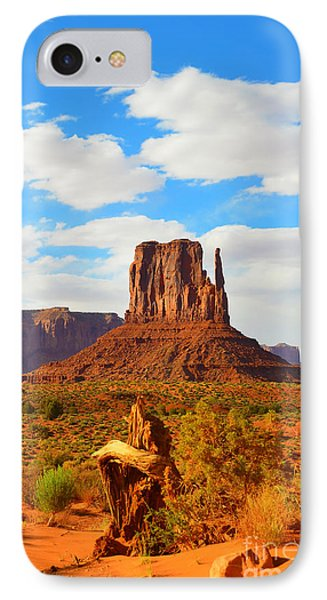 West Mitten At Monument Valley IPhone Case by Debra Thompson