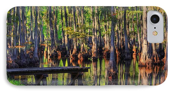 West Monroe Swamp Dock IPhone Case by Ester  Rogers