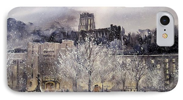 West Point Winter Phone Case by Sandra Strohschein