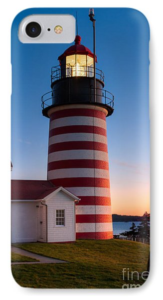 West Quoddy Head Light At Dawn I IPhone Case by Clarence Holmes