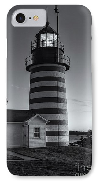 West Quoddy Head Light At Dawn II IPhone Case by Clarence Holmes