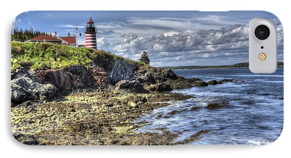 IPhone Case featuring the photograph West Quoddy Lubec Maine Lighthouse by Shawn Everhart