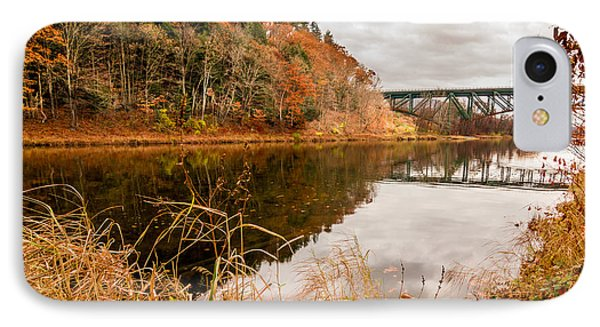 West River At Interstate 91 IPhone Case by Jeremy Farnsworth