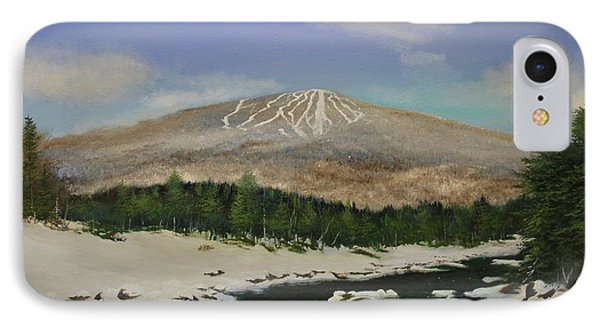 IPhone Case featuring the painting West River Bromley View by Ken Ahlering