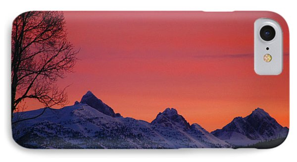 West Side Teton Sunrise Phone Case by Raymond Salani III