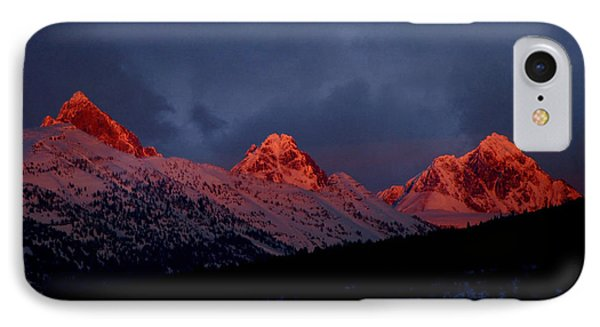 West Side Teton Sunset IPhone Case