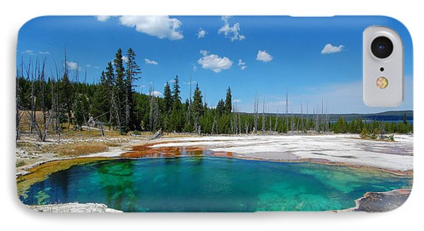 West Thumb Abyss Pool IPhone Case by Debra Thompson