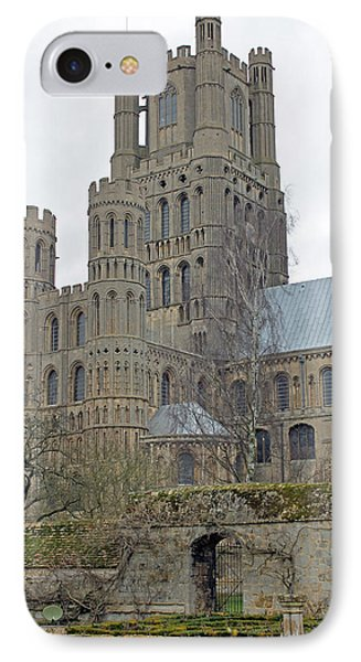 West Tower Of Ely Cathedral  IPhone Case by Tony Murtagh