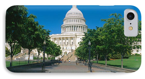 West View Of Us Capitol Building IPhone Case by Panoramic Images