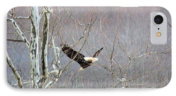West Virginia Bald Eagle In Flight IPhone Case