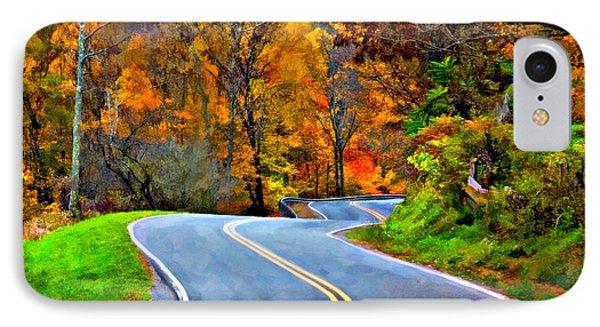 West Virginia Curves 2 Oil Phone Case by Steve Harrington