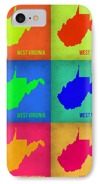 West Virginia Pop Art Map 1 IPhone Case by Naxart Studio
