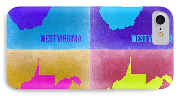 West Virginia Pop Art Map 2 IPhone Case by Naxart Studio