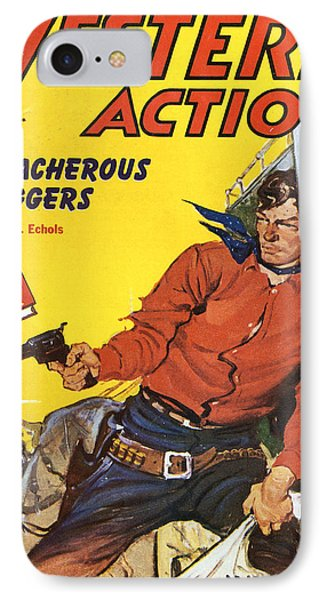 Western Book Cover Art : Western action comic book cover photograph by studio art