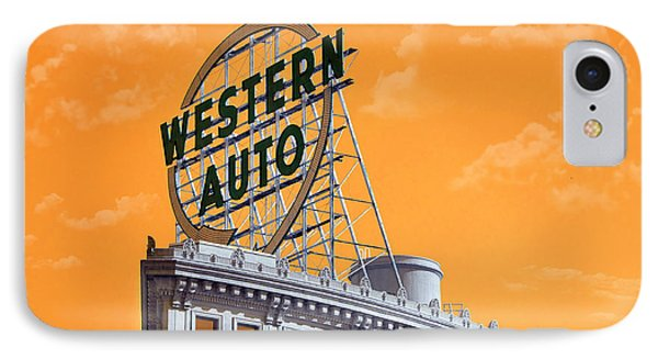 Western Auto Sign Artistic Sky IPhone Case