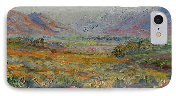 IPhone Case featuring the painting Western Cape Mountains by Thomas Bertram POOLE