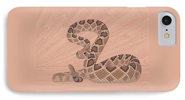 Western Diamondback Rattlesnake IPhone Case by Nathan Marcy