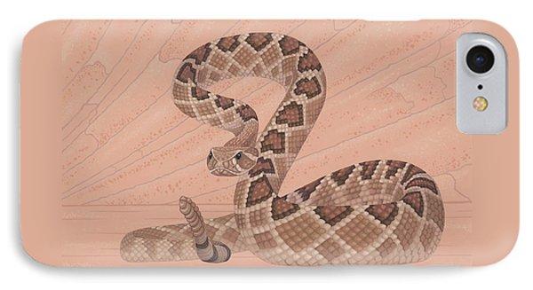 Western Diamondback Rattlesnake IPhone 7 Case by Nathan Marcy