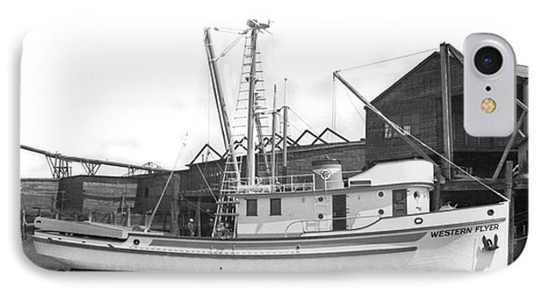 Western Flyer Purse Seiner Tacoma Washington State March 1937 IPhone Case by California Views Mr Pat Hathaway Archives