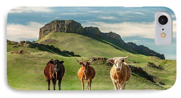 Western Longhorns IPhone Case by Todd Klassy